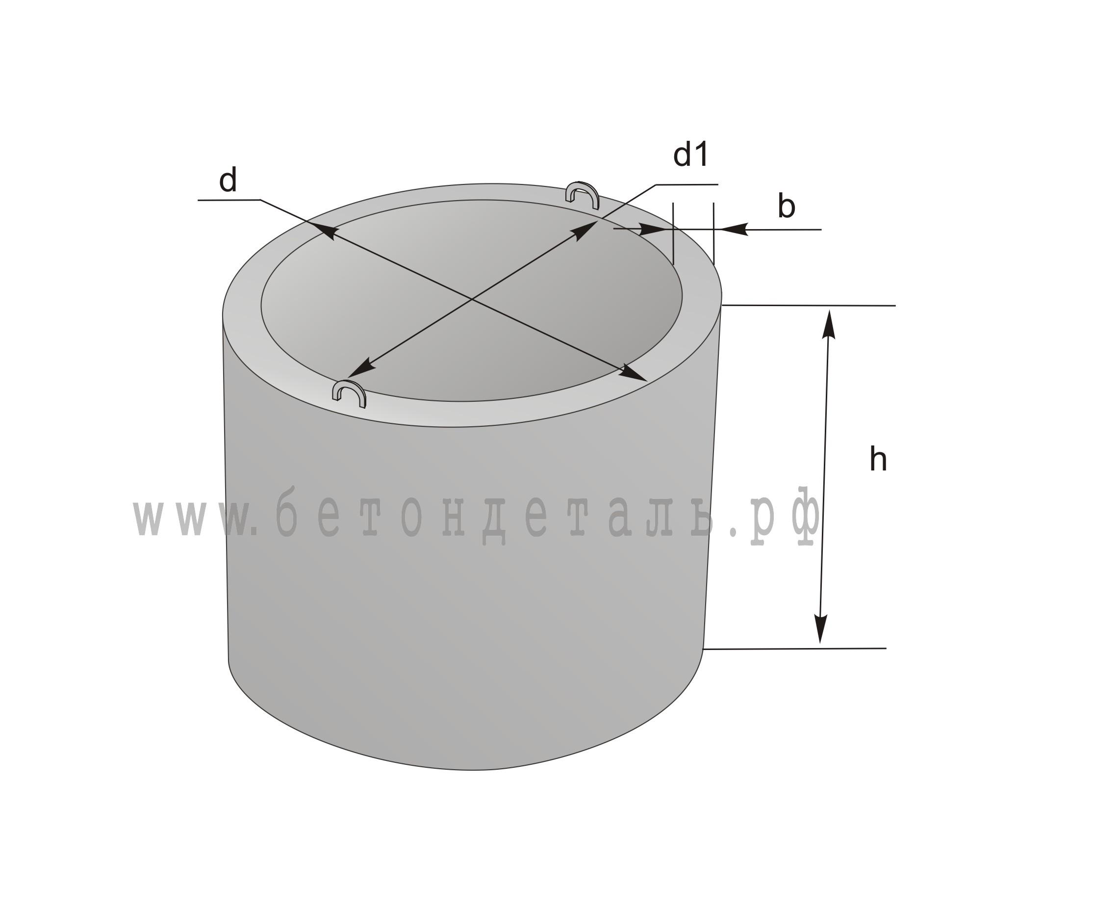 e7f01516c96f Кольца колодезные КС 10-9 Цена вес диаметр ГОСТ серия доставка купить