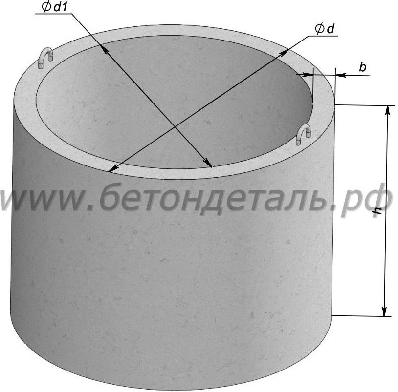 Кольцо стеновое ЖБ Колодец 7 КС 7 9 (горловина) от